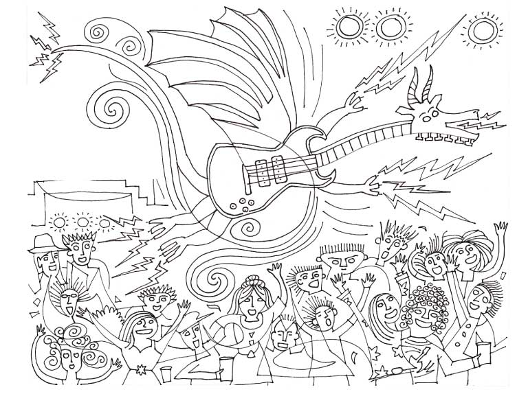 thunder drum dragon coloring pages - photo#7